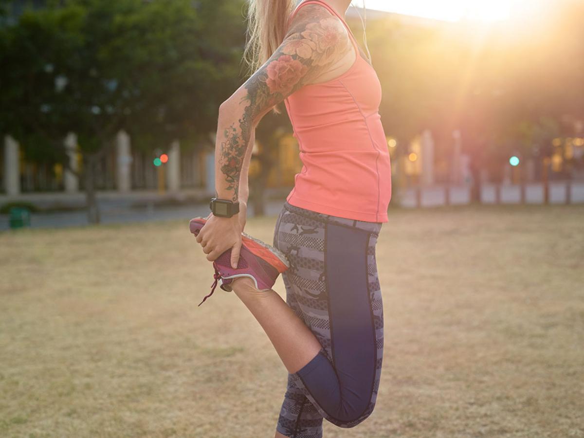 marathon stretching